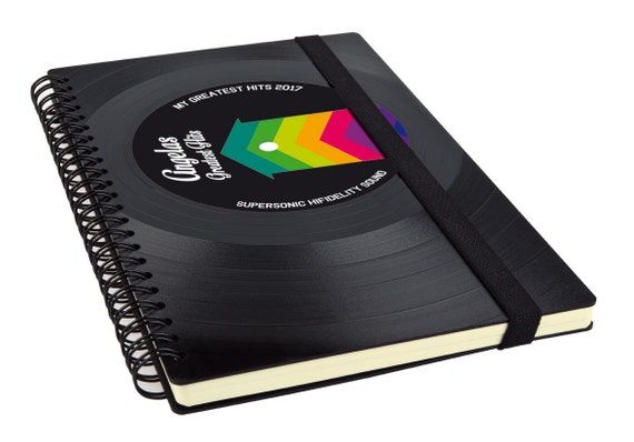 Personalisiertes Notizbuch aus einer Schallplatte | Tagebuch | Geschenk für Musiker | Geschenk aus Vinyl | Geschenk aus Schallplatte