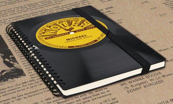Personalisiertes Reisetagebuch | Geschenk Reisende | Tagebuch | Reisetagebuch aus Schallplatte | Individuelles Notizbuch | Phonoboy