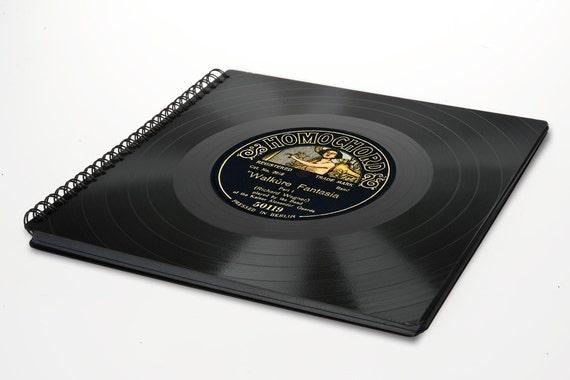 Vintage Fotoalbum aus Schallplatte - Album | Vintage Gästebuch | Phonoboy