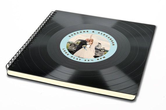 Vintage Hochzeitsalbum aus Schallplatte - Fotoalbum | Hochzeitsgeschenk | Gästebuch Hochzeit | retro | Phonoboy