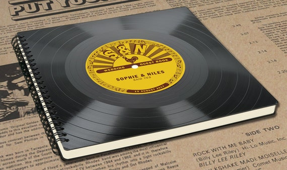 Fotoalbum aus einer Schallplatte - Geschenk für Musiker | Musikliebhaber | Künstler | retro | personalisiertes Musikgeschenk | Phonoboy