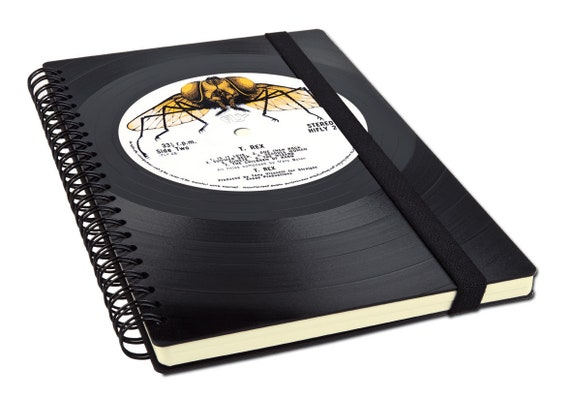 Wochenkalender 2020 aus einer Schallplatte | Recycling Notizbuch | Geschenk für Freund | Kalender A5 | Planer | Spiralbindung