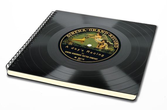 Gästebuch aus Schallplatte | Fotoalbum | Skizzenbuch | Geschenk Hochzeit | Mann | Frau | Künstler | Fotograf | Musiker | Musikliebhaber