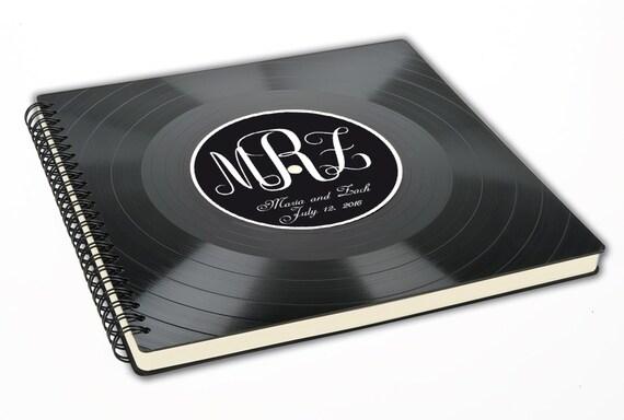 Personalisiertes Hochzeitsgästebuch aus Schallplatte - Fotoalbum | Hochzeitsgästebuch | Vinyl Album | Vintage Album | Vinyl Gästebuch