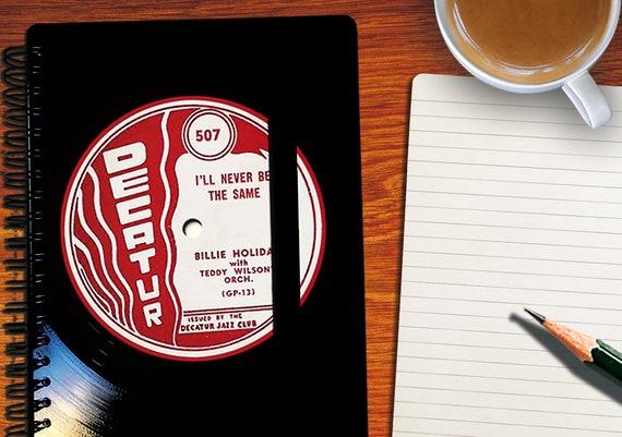 A5 Notizbuch aus Schallplatte | Notenheft | Notenpapier | liniertes blanko Buch aus Vinyl | Phonoboy