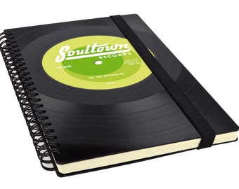 Personalized Notebook made from Vinyl | Music Gift | Blank Notebook | Custom made Journal