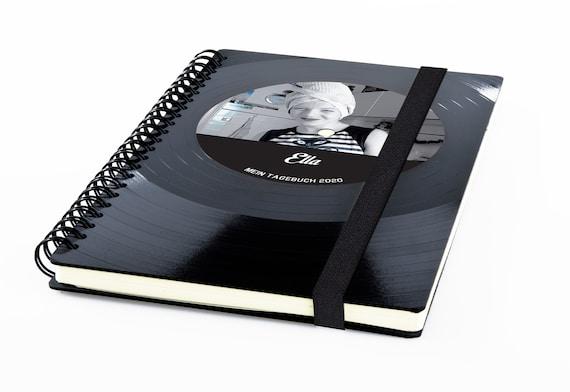 Notizbuch aus Vinyl handgearbeitet | personalisiertes DJ Geschenk - Musik Geschenk - Notizbuch liniert - Notizbuch kariert - Notenpapier