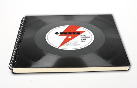 Notizbuch Gästebuch aus Vinyl | Phonoboy