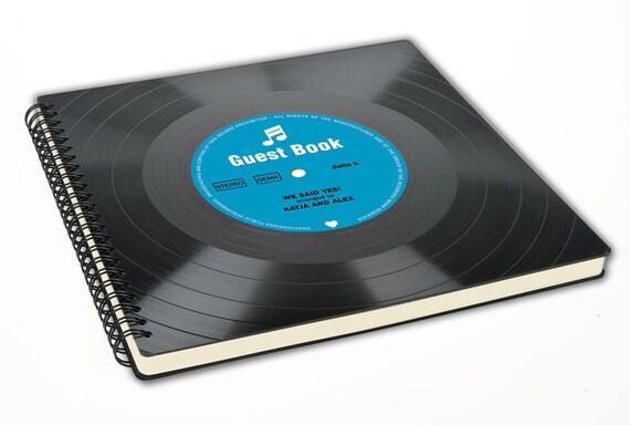 Gästebuch | Personalisiertes Geschenk zur Hochzeit | Hochzeitsgeschenk | Einzugsgeschenk | Einweihungsparty | Buch aus Vinyl | Phonoboy