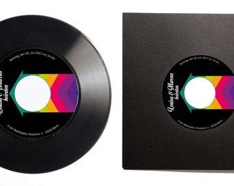 Custom Record Invites   Invitation Card made from Vinyl   Wedding Invitation Set   Invitation Kit