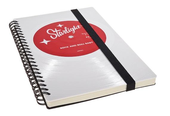 Personalisiertes Notizbuch aus Schallplatte - Personalisiertes Geschenk - Jahrestag Geschenk