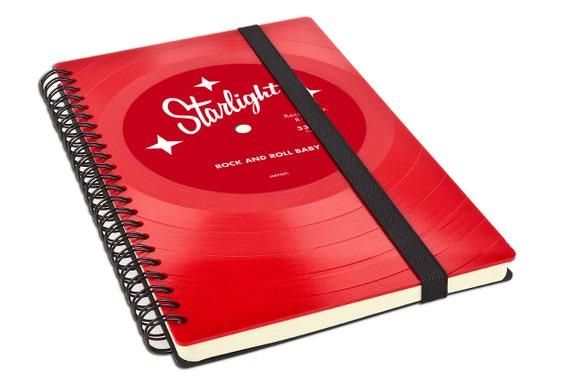 Personalisiertes Notizbuch aus Schallplatte - Personalisiertes Geschenk - Geschenk für Freund