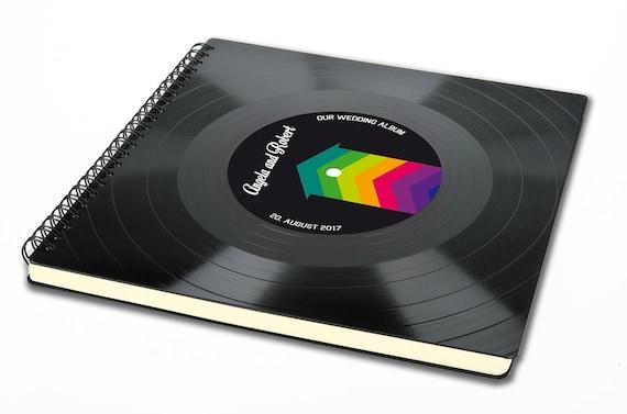 Personalisierbares Fotoalbum aus Schallplatte | Alternatives Hochzeitsalbum | Vintage Gästebuch Hochzeit | Phonoboy