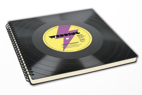 Personalisiertes Fotoalbum aus einer echten Schallplatte - Geschenk für Musiker | Musikliebhaber | Künstler | retro