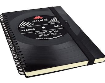 Gift for Boyfriend / Blank Journal / Vinyl Journal / Music Album / Photographer / Music Lover / Blank Notebook