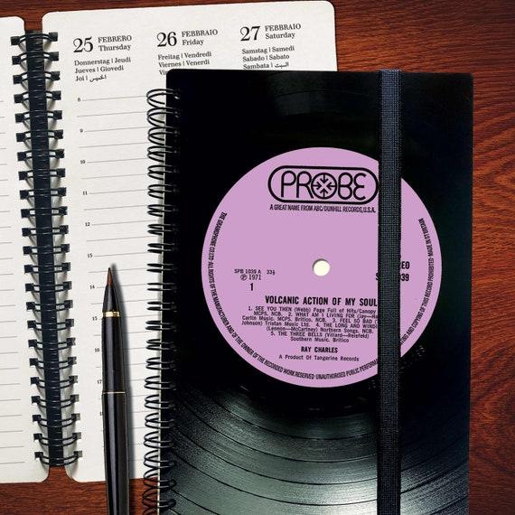 Vinyl Kalender 2021 | Notizbuch aus echter Schallplatte| Geschenk für Musikliebhaber | Vintage | Taschenkalender | Wochenkalender