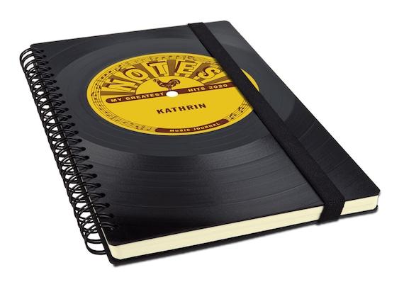Personalisierter Kalender 2020 aus einer Schallplatte | Notizbuch | Musik Geschenk | Vintage | Taschenkalender | Planer