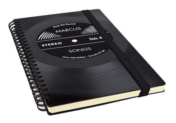 Personalisiertes Notizbuch - Personalisiertes Geschenk - Musikfan