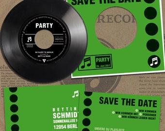 Birthday Invitation Kit made from Vinyl   Record Birthday Invites   Invitation Set Birthday Cards    30. 40. 50. Birthday Party
