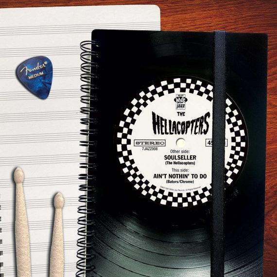 A5 Notenheft aus Schallplatte  | Notizbuch | liniert | kariert | Notenpapier | Kalender aus Vinyl | Spiralbindung
