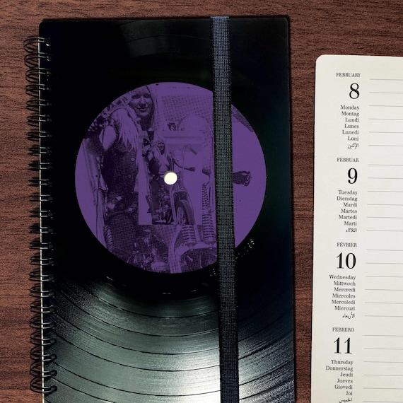 Taschenkalender 2022 aus Vinyl A5 | Upcycling Kalender | Musikliebhaber Geschenk
