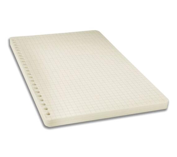 Kariertes Papier zum Nachfüllen für Notizbuch | Phonoboy
