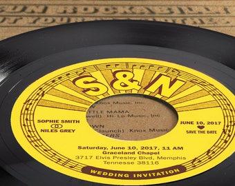 Custom Wedding Invitation Kit made from Vinyl   Invitation Card   Invitation Set   Wedding Cards