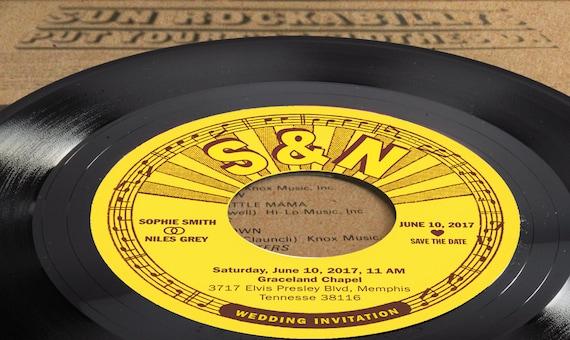 Einladung Hochzeit Schallplatte Hochzeitskarte