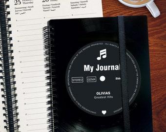 Personalized Agenda 2021 made from real Vinyl | Gift for Music Lover | Musician Gift | Journal | Vinyl | Organizer | Planner