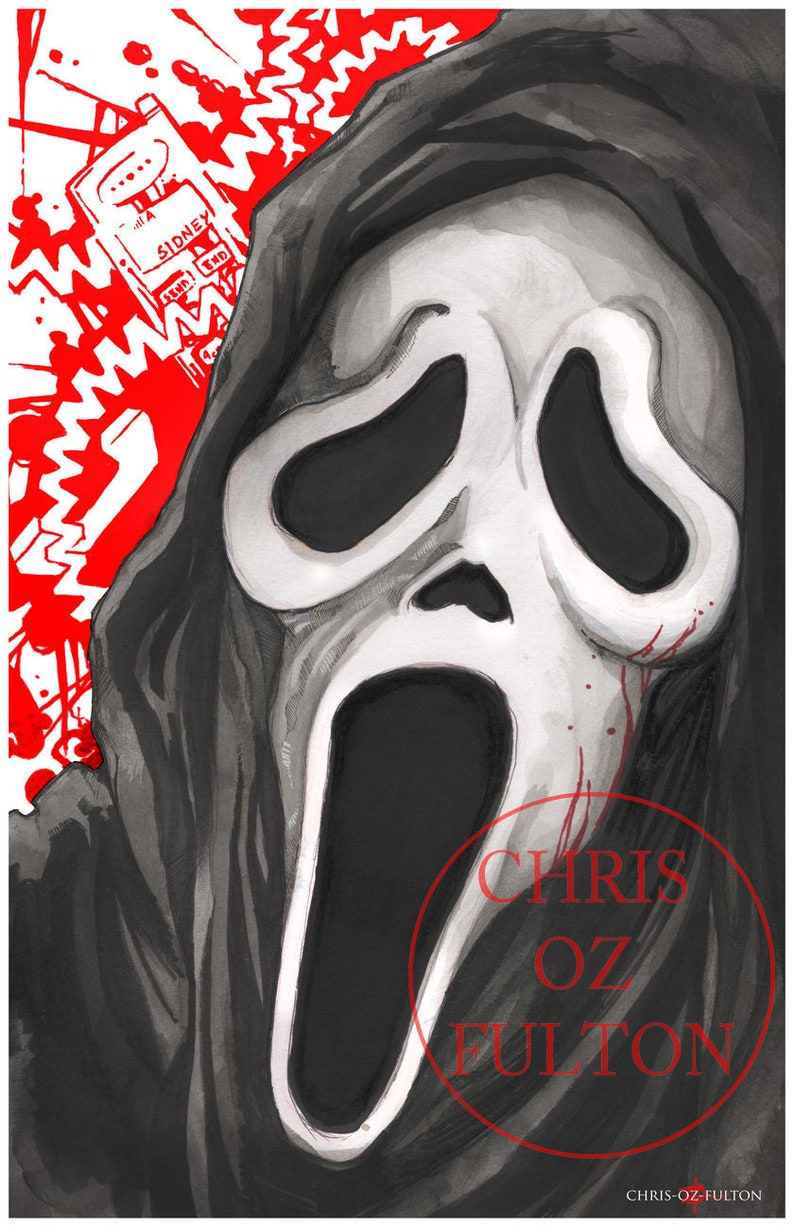 a544ce0f704932 Ghost Face Scream Movie Poster Print by Chris Oz Fulton