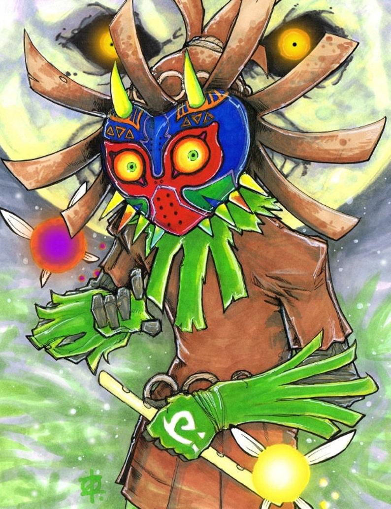 Skull Kid Majora's Mask Zelda Poster Print