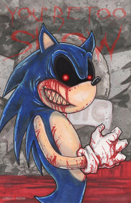 Sonic exe Creepypasta Poster Print