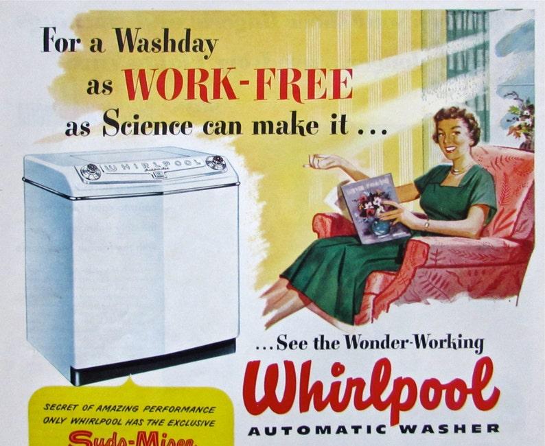 Original Vintage 1949 WHIRLPOOL WASHING MACHINE  Ad Magazine image 0