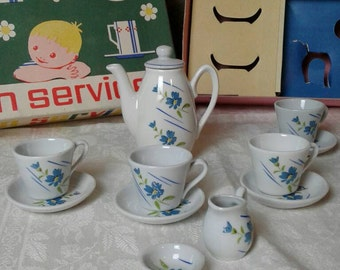 Children's Coffee service, vintage, porcelain, 60s