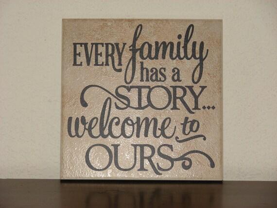Ogni famiglia ha una storia benvenuti alla nostra piastrelle etsy