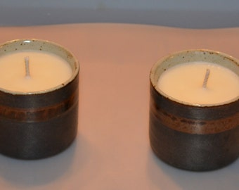 Recycled Japanese Tea Cup Soy Candle