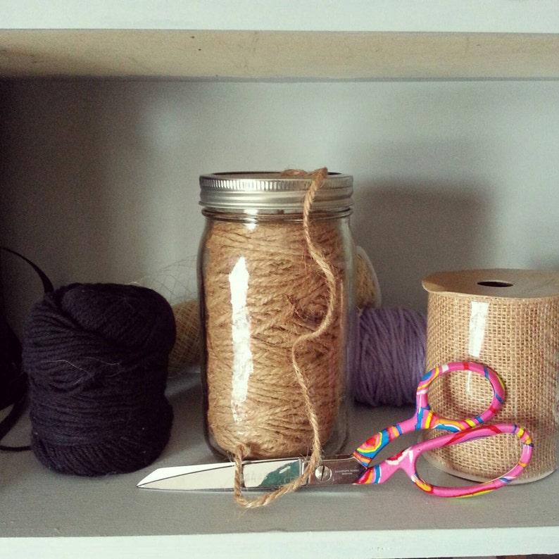 Reusable Jute Mason Jar Craft Supply Jute String Mason Jar Etsy