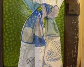 Vintage Hanky Scarf / Souvenir Scarf / Upcycled Hankies Summer Scarf / Boho Chic Accessory / Scarves from Around the World