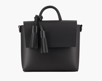 Handmade Leather Bag with Tassel