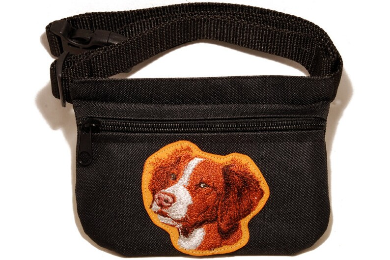Breed for dog shows Bedlington Terrier Embroidered Dog treat pouch//bag
