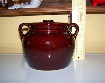Stoneware Cookie Jar/ Bean Pot