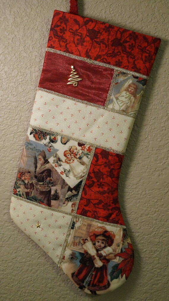 Victorian Christmas Stockings.Victorian Christmas Stocking