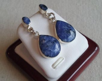 925 sterling silver earrings with amythyst stone