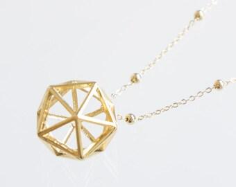 Raw Custom Geometric Necklace Necklace Minimal Necklace Modern Necklace Gold Necklace Girlfriend Gift Best Friend Gift Birthday Gift