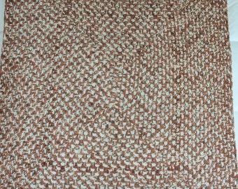 "Crochet Afghan Blanket Toffee 42"" x 52"", Handmade Granny Stitch Afghan, Crochet Blanket, Chair Cover Throw, Gender Neutral Home Decor Throw"