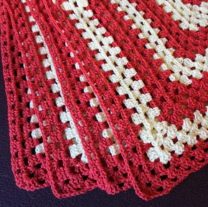 Crochet Blanket 49 X 65 Handmade Granny Stitch Etsy