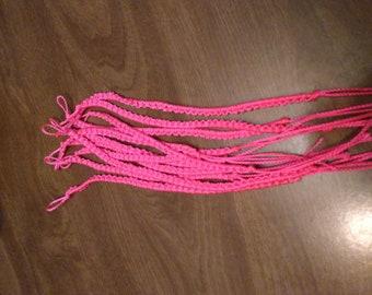 Neon pink bracelet or anklet