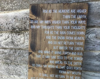 Isaiah scripture sign