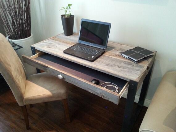 Ancien bureau de bois de grange avec tiroir et le style u etsy