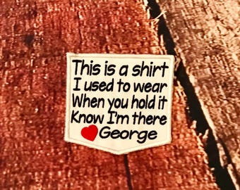 This Is A Shirt I Used to Wear - Memory Pocket Patch - Memory pillow - shirt pillow - Dad - Grandpa - Mom - Grandma - Pillow Patch